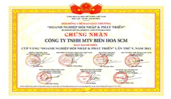 Director Le Quan Lam received a certificate of merit from the President